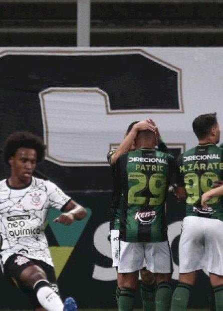 Corinthians e América-MG empatam na Neo Química Arena pelo Brasileirão